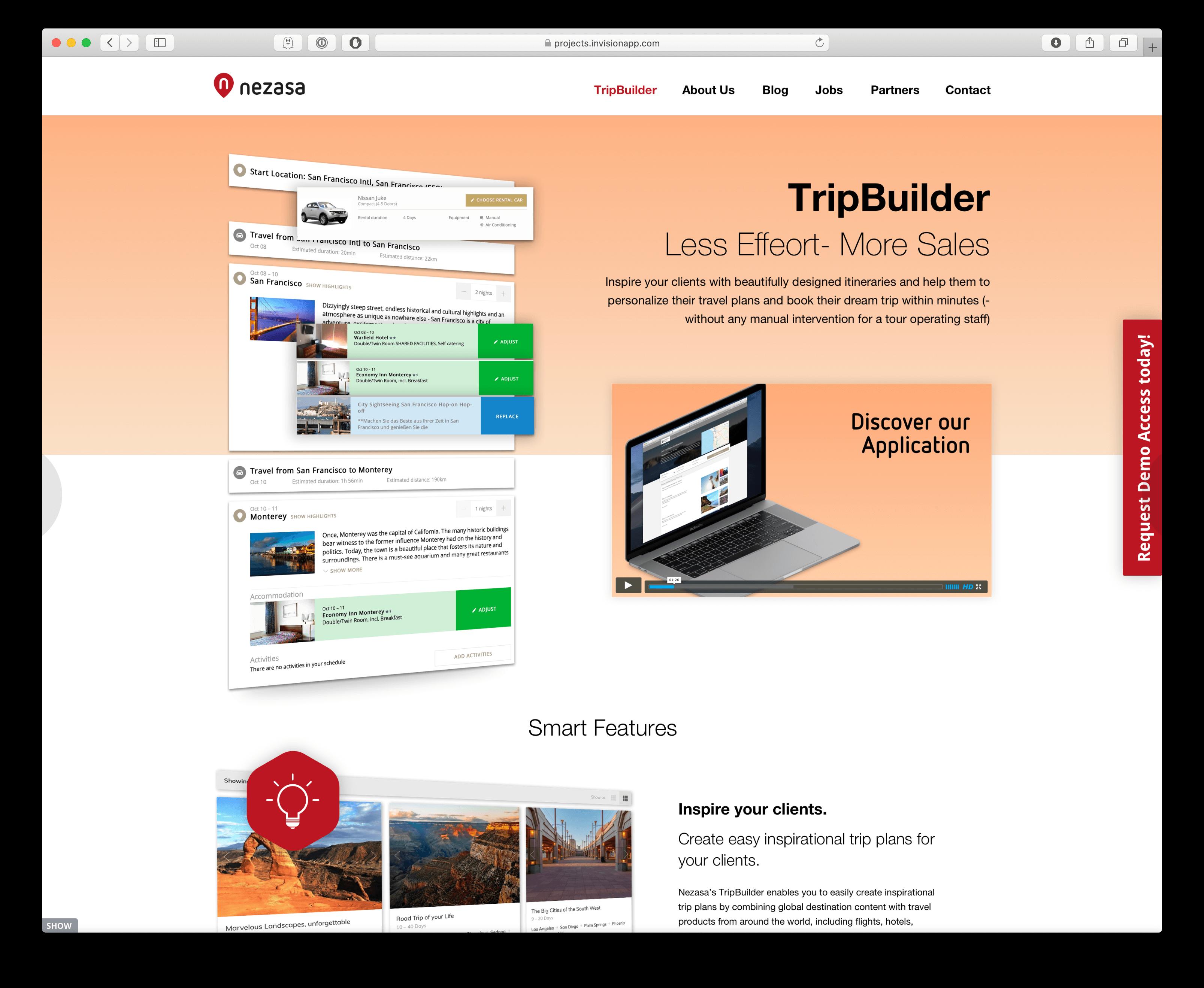Innovatives Webdesign für Produktseiten