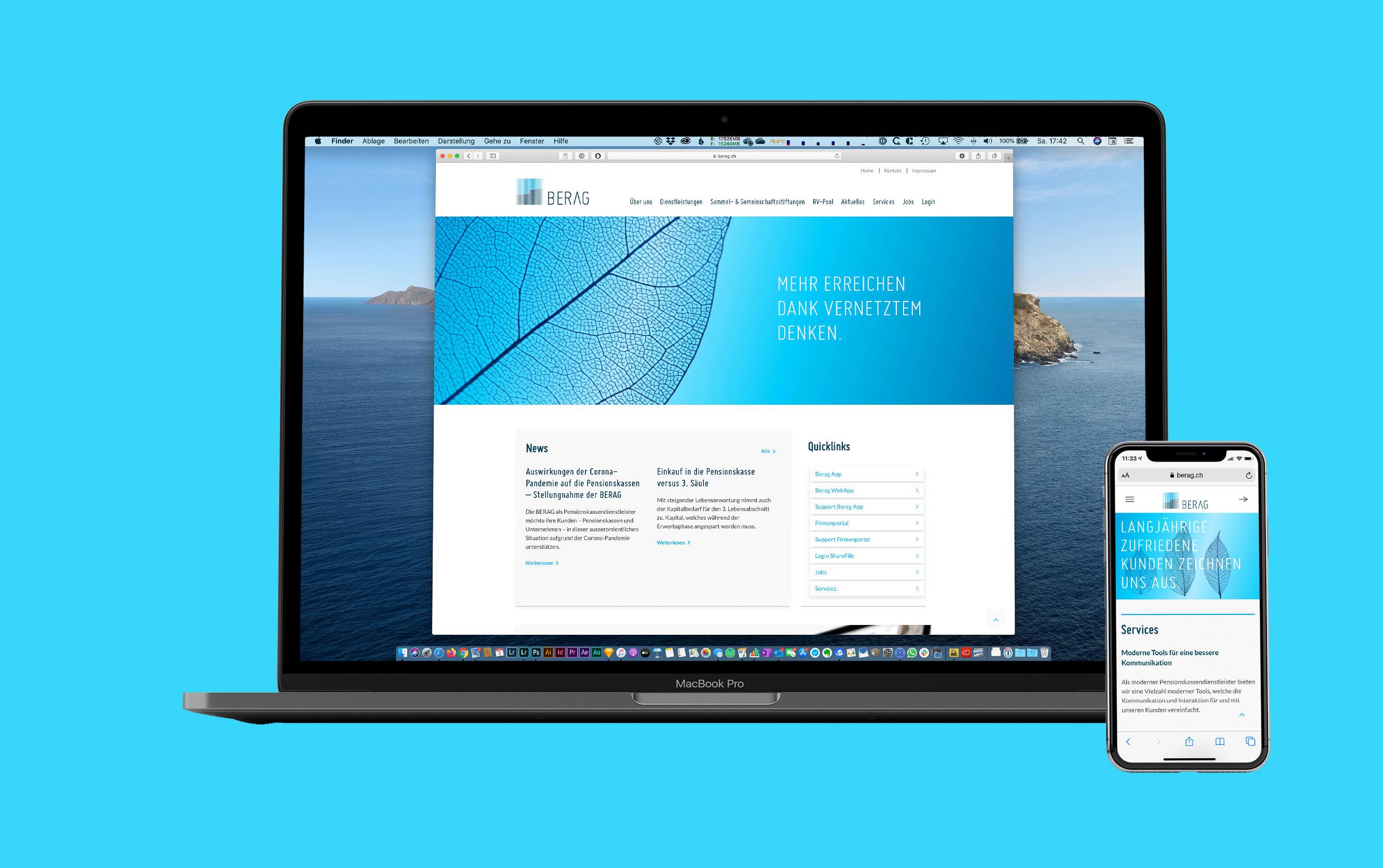Responsive Webseite BERAG