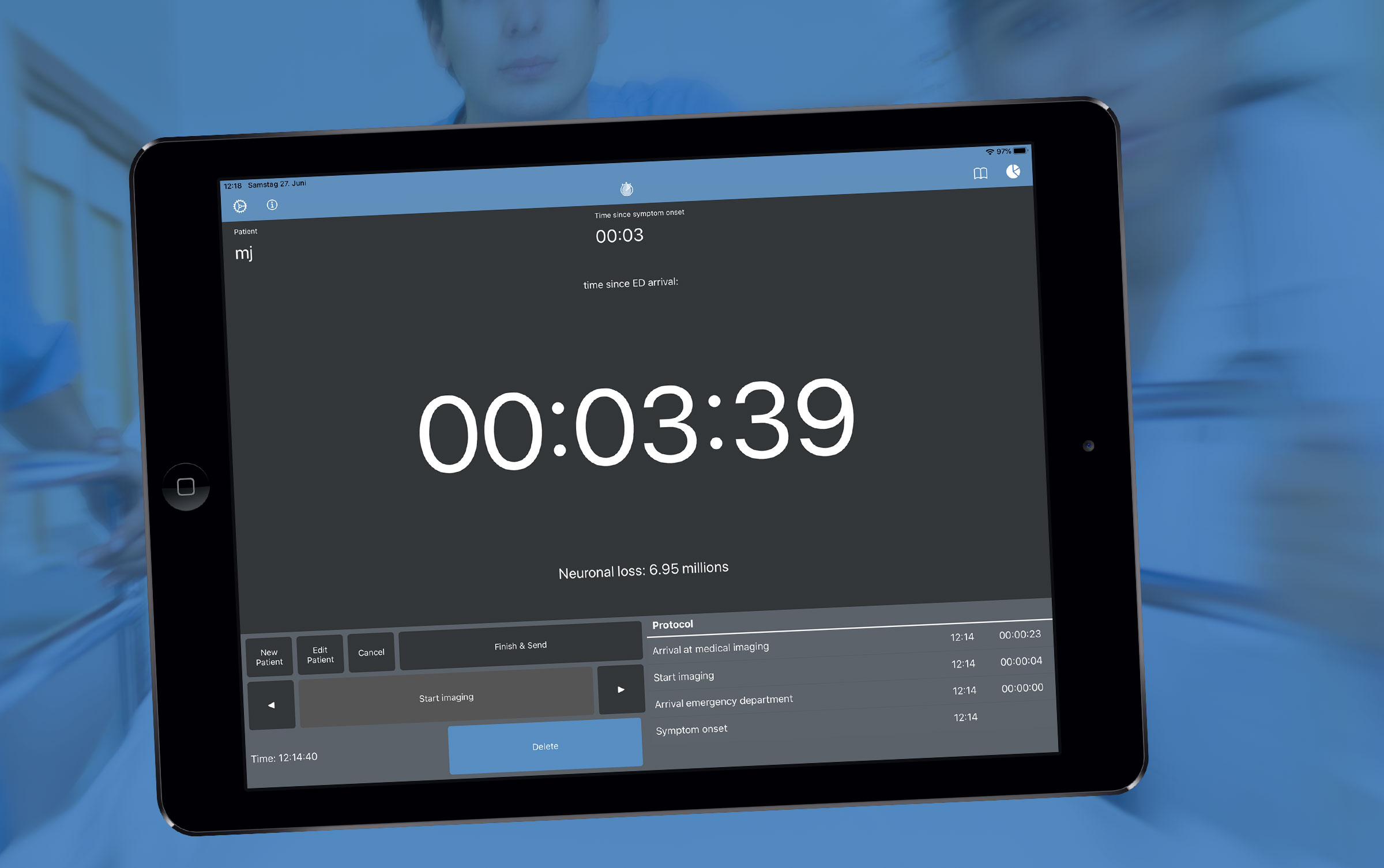 Stroke Clock iPad App leben retten