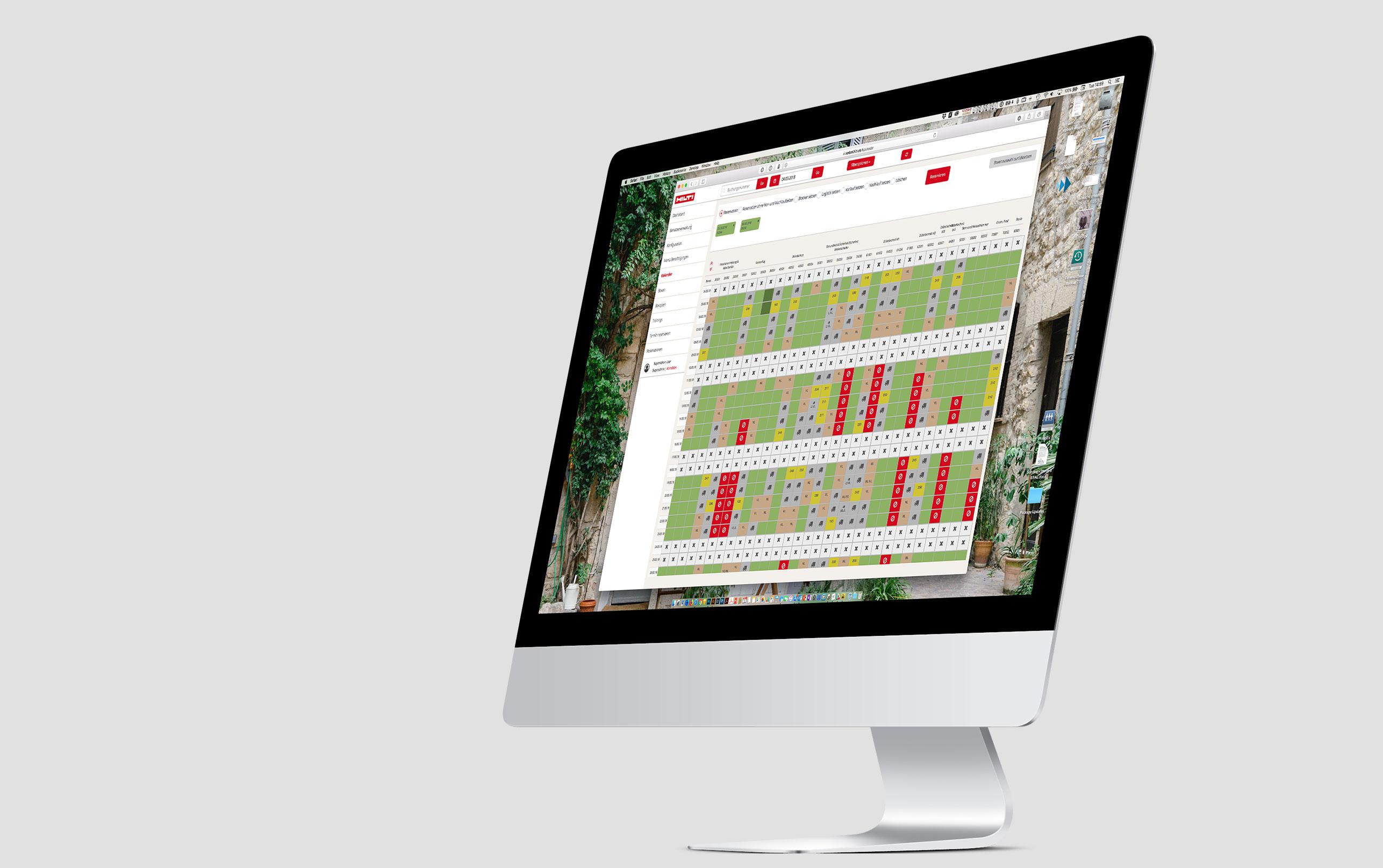 Portallösung zur mobilen Reservierung mit Kalenderübersicht