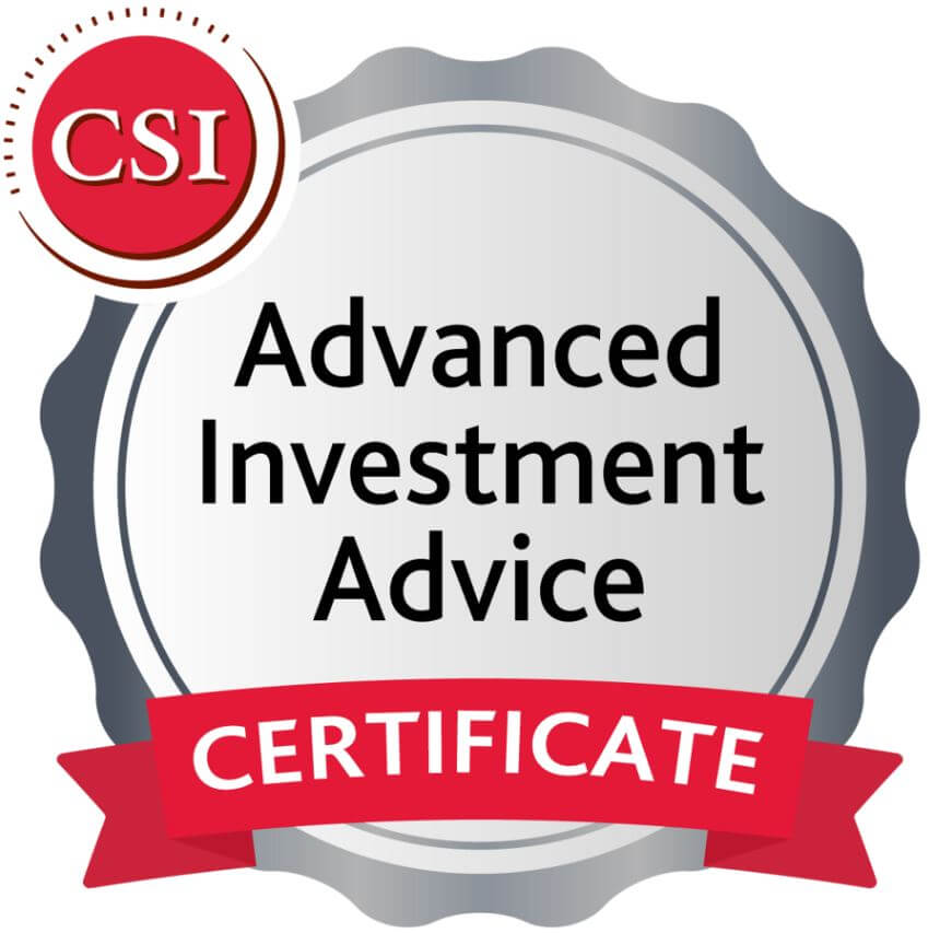Advanced Investment Advice Certificate