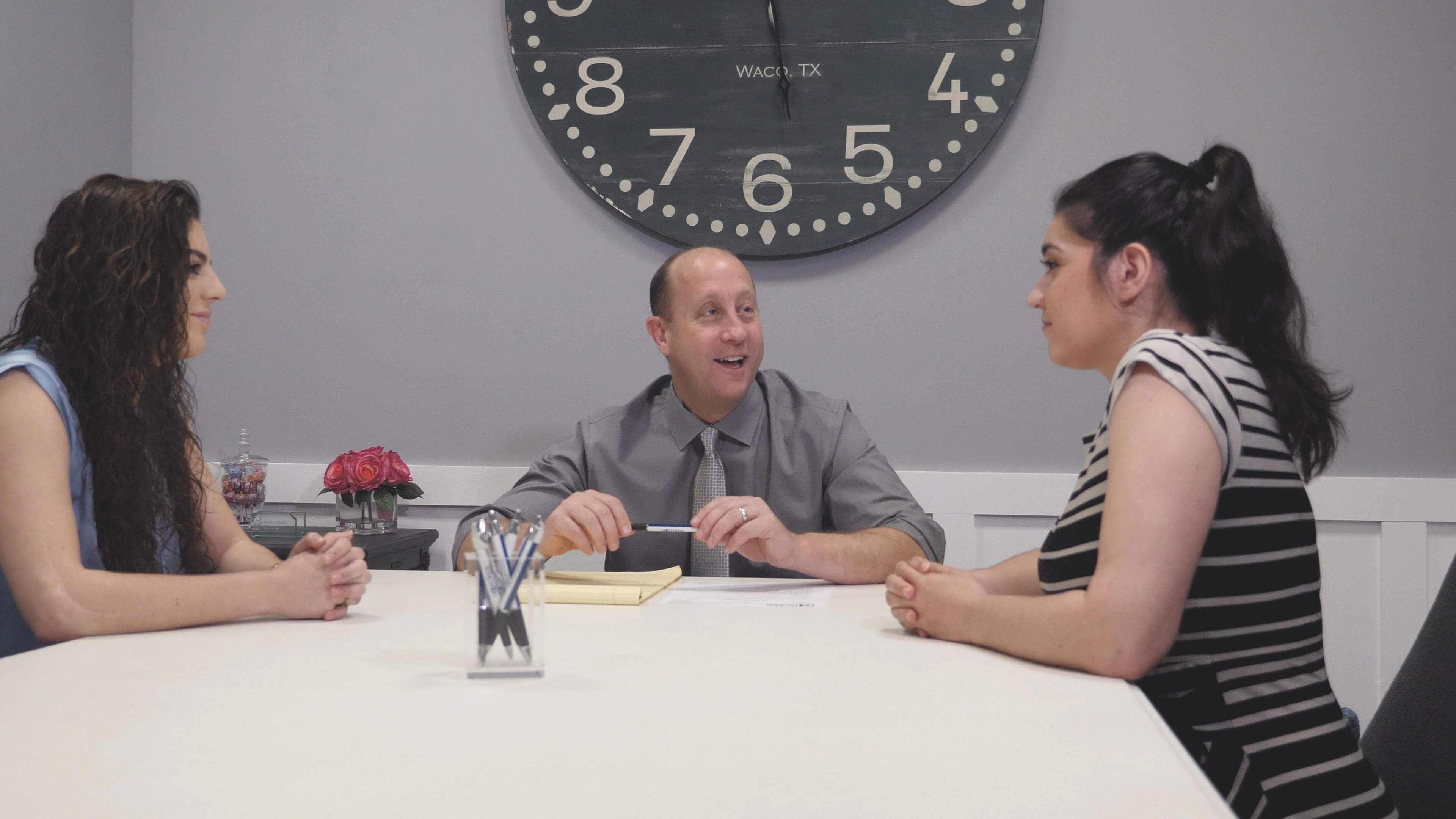 David and the Ruben Law Firm team meeting.