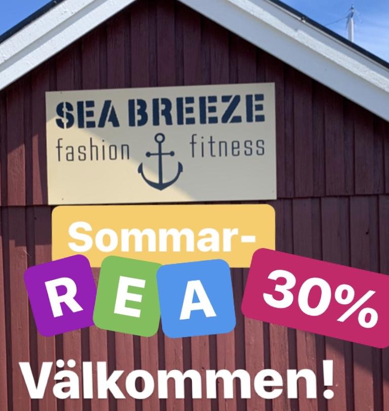 SeaBreeze Vaxholm, sommarrea skylt