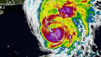Hurricane Irma over Florida in 2017