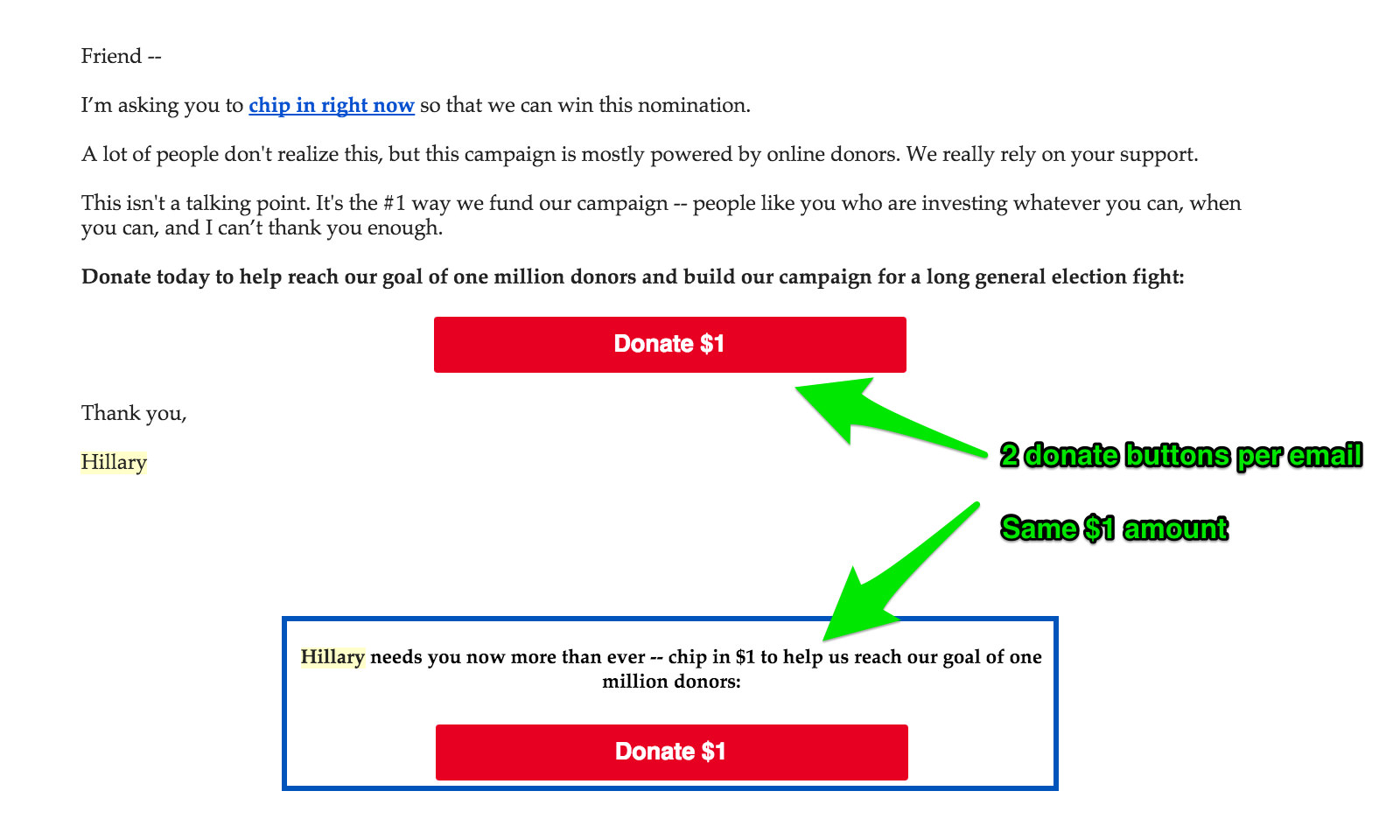 email donate clinton