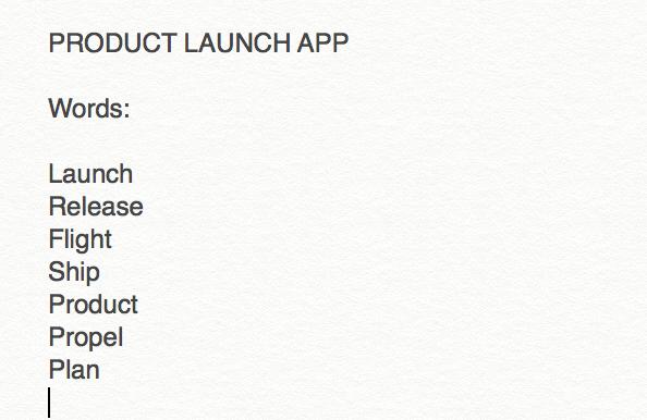 product launch app
