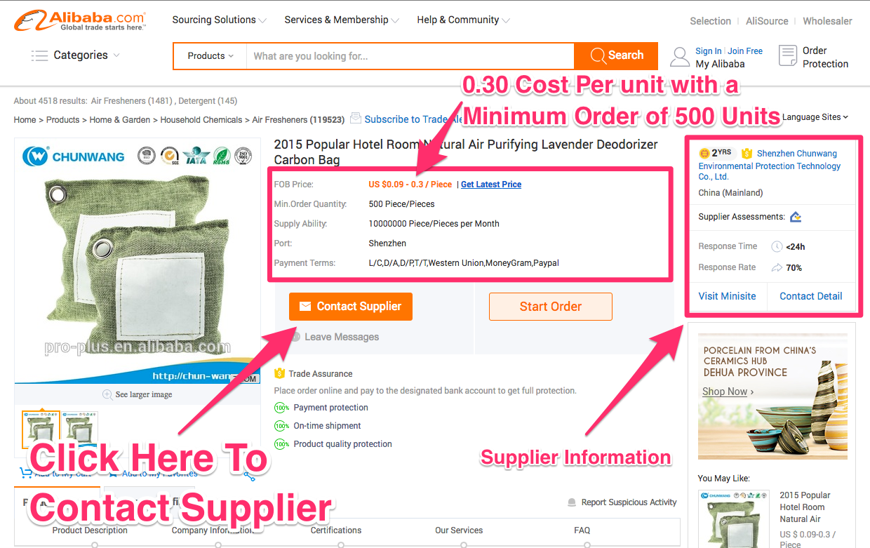 Amazon product supplier