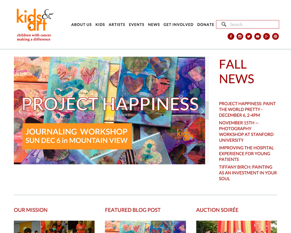 Kids and Art Foundation home page