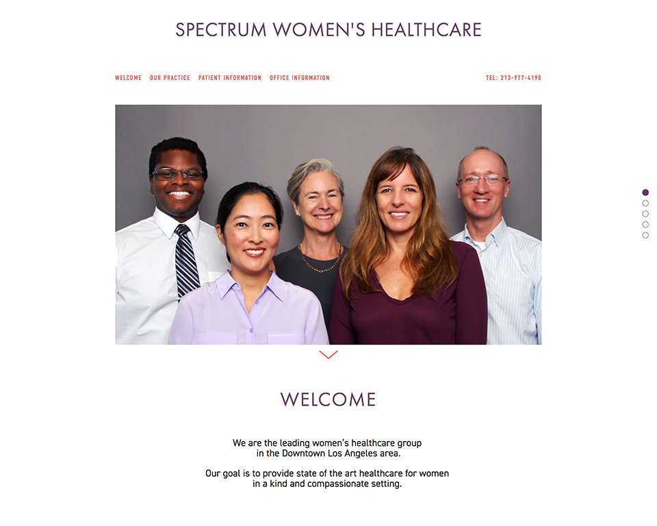 Spectrum Women's Healthcare home page