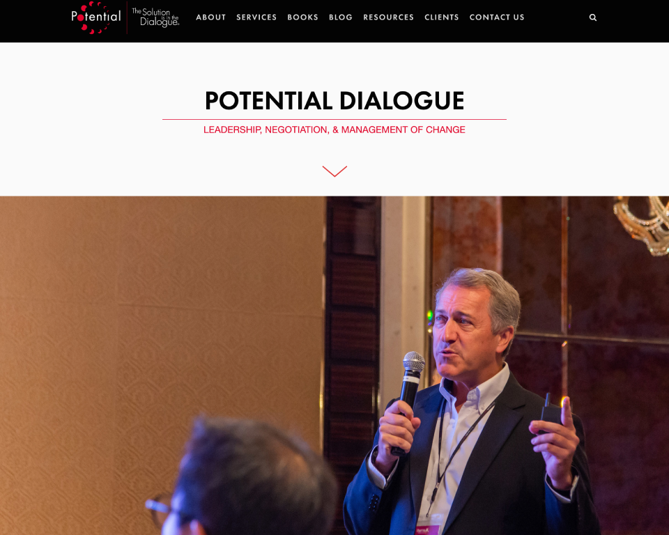 Potential Dialogue home page