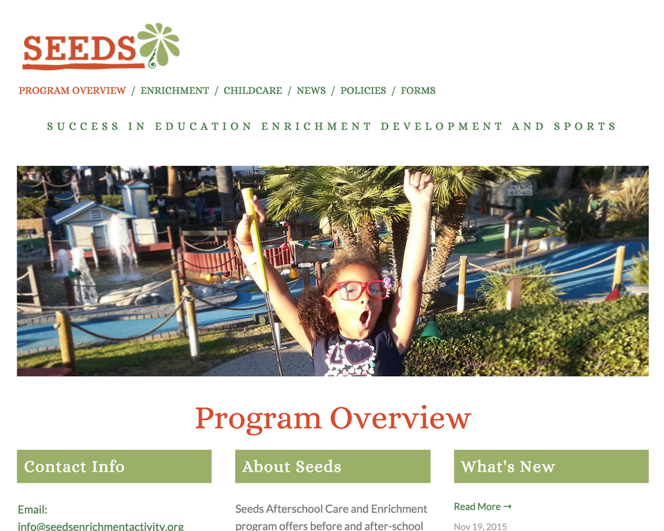 SEEDS home page