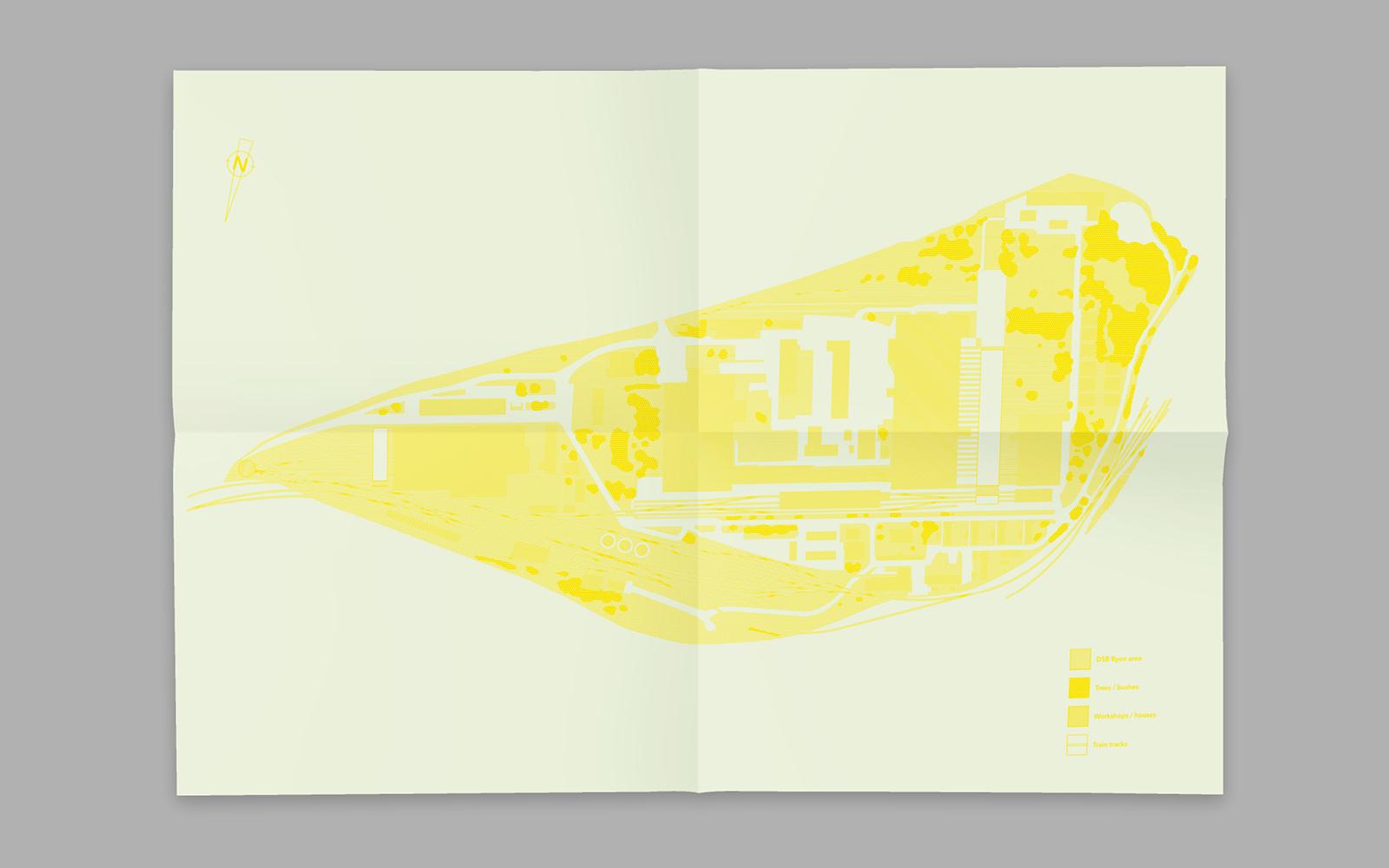 Plakat til bogen DSB Byen
