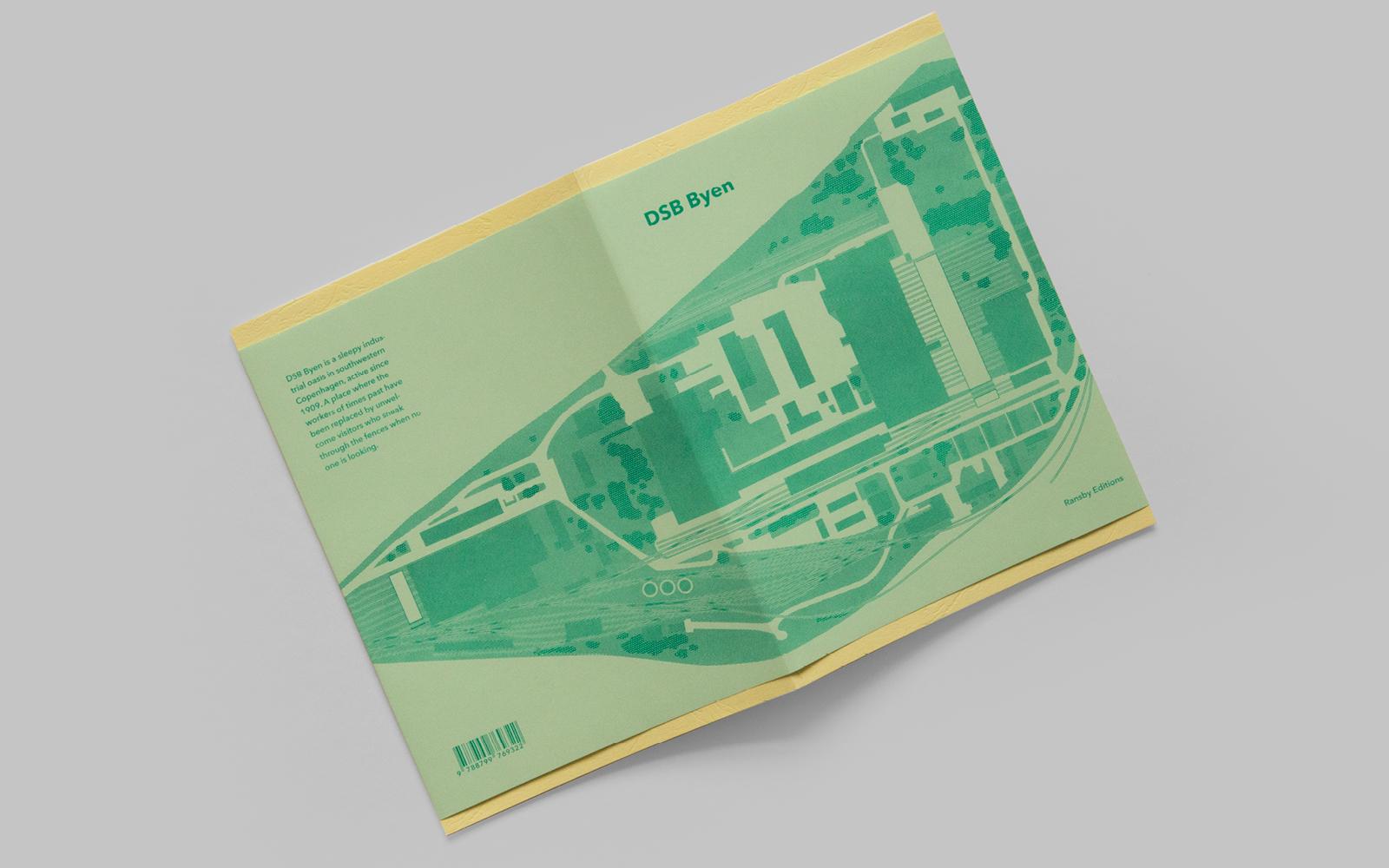 Omslag til 1. udgaven af bogen DSB Byen
