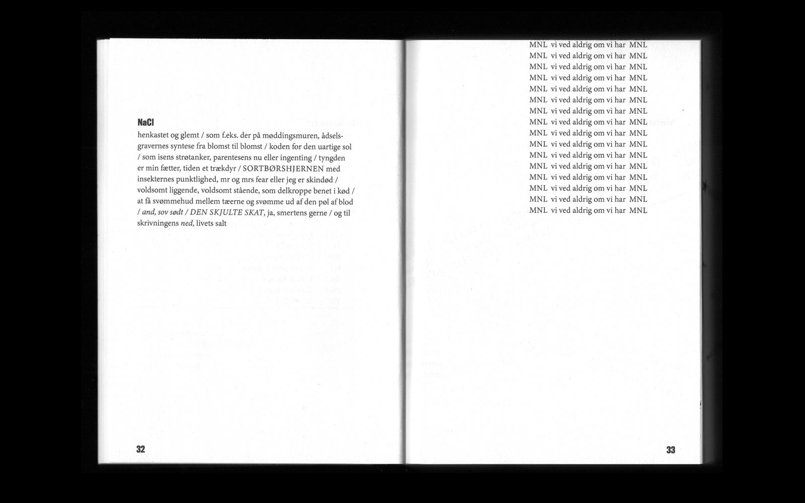 Opslag fra bogen Nedrakket til Skrift