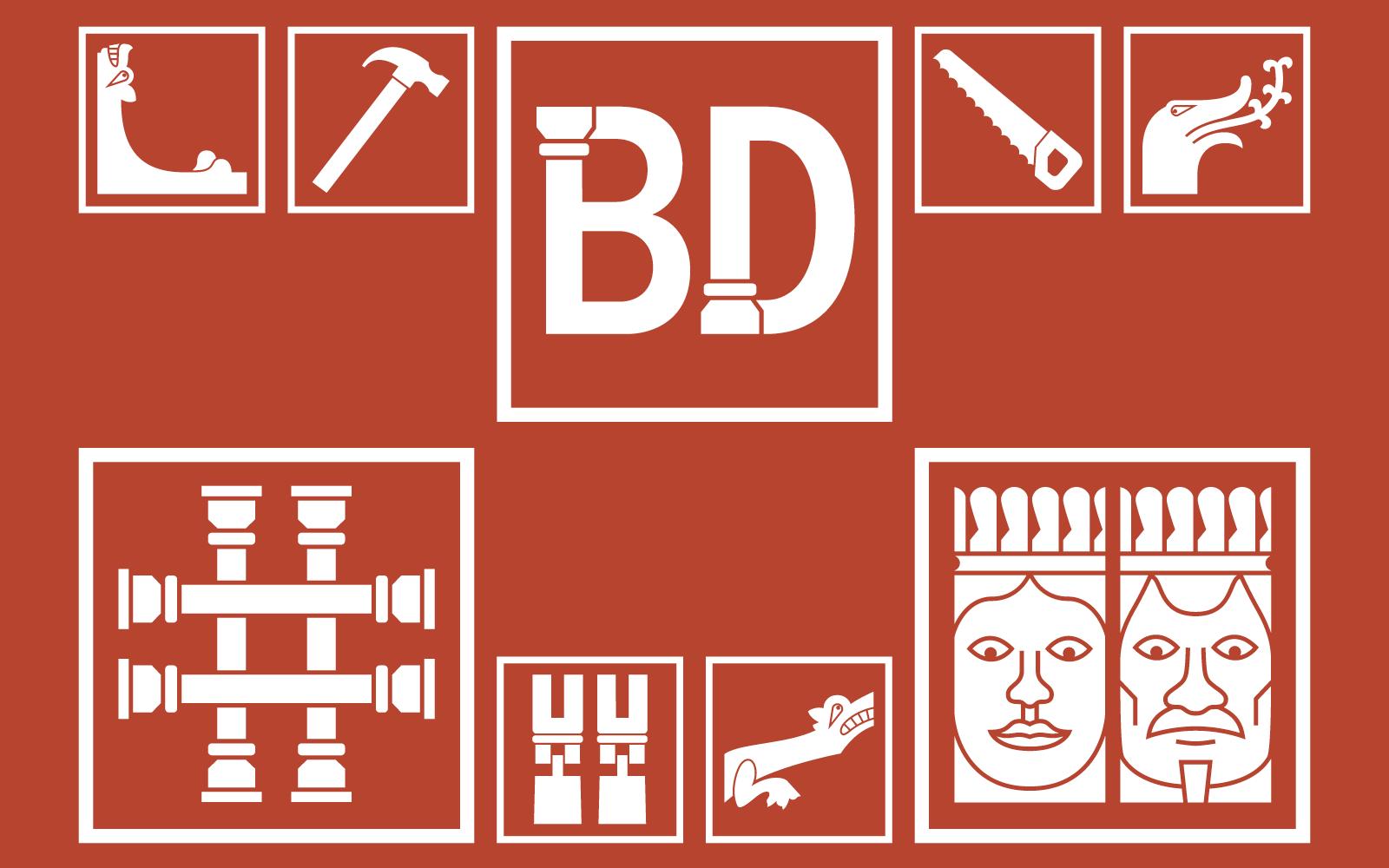 Udstillingsgrafik for Bureau Detours