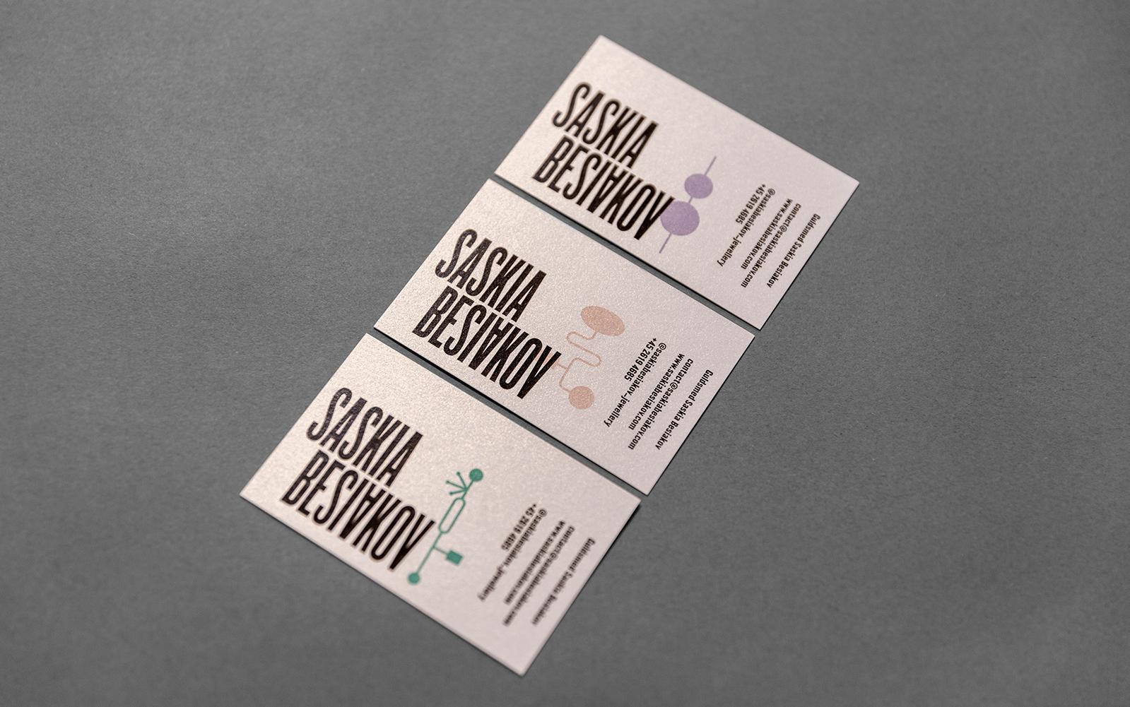 Saskia Besiakov visitkort