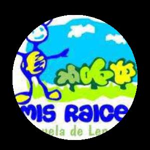 logo escuela de lenguaje raices