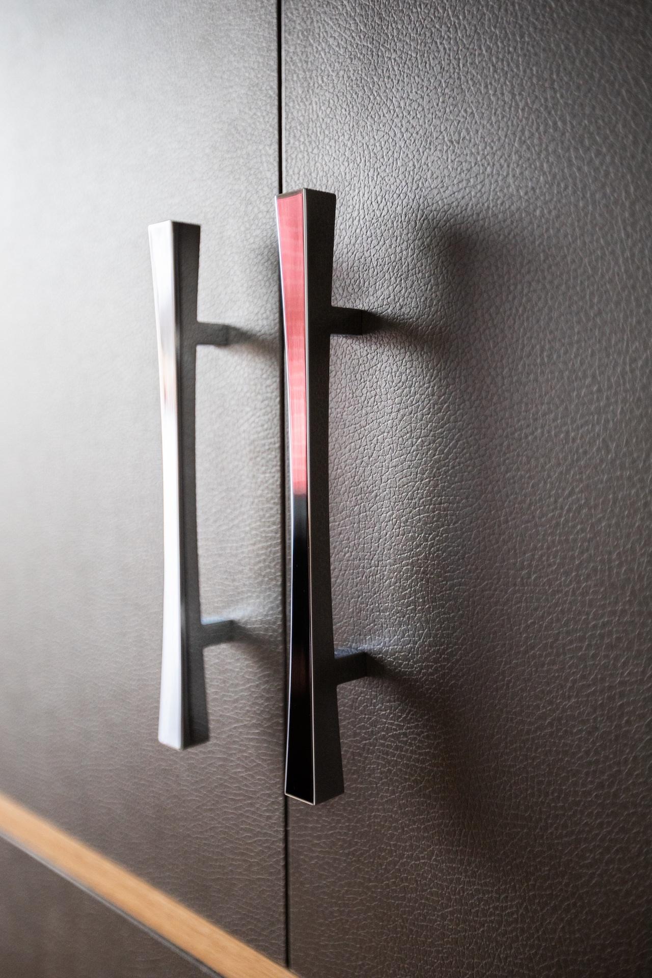 silver door handles