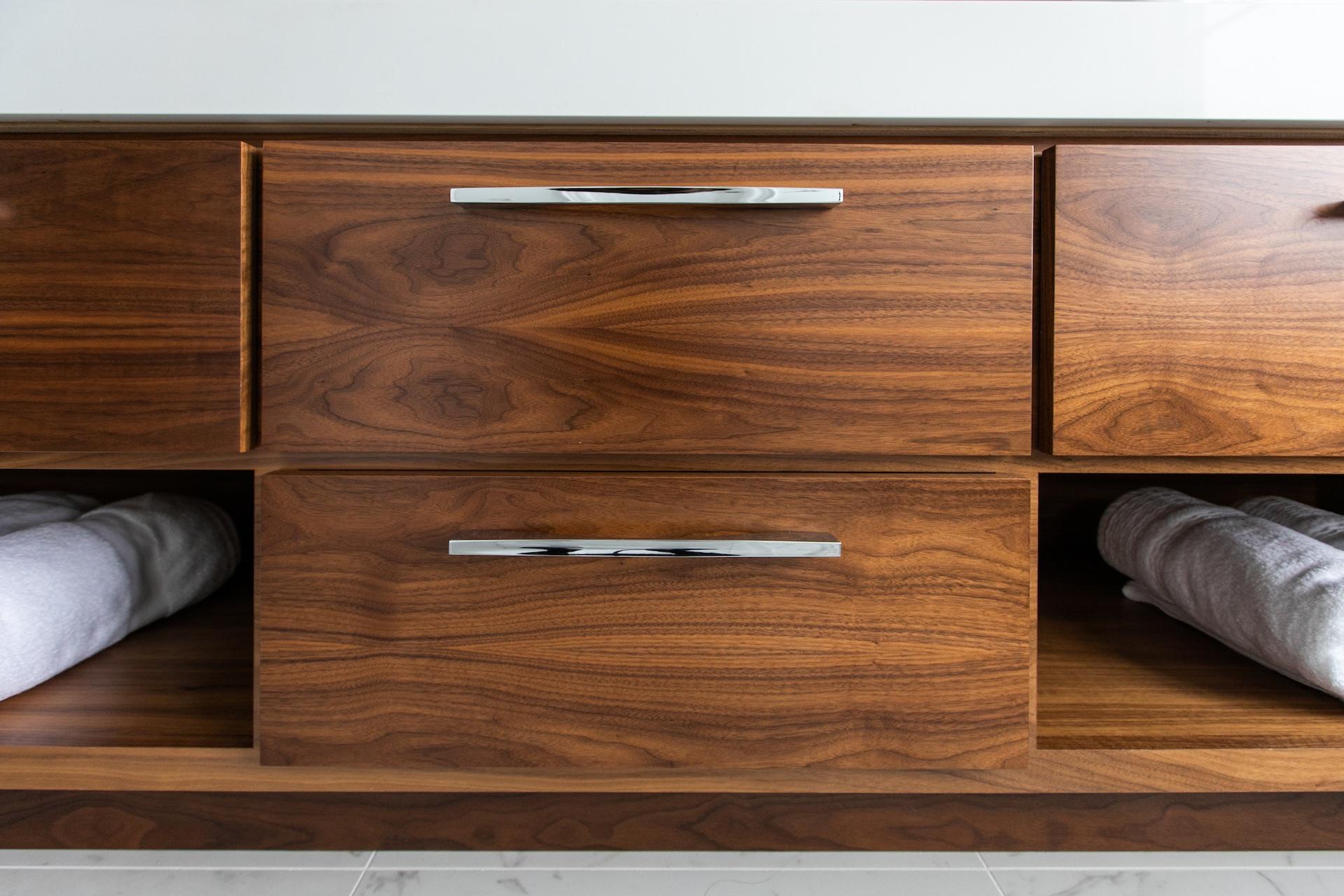 wood vanity drawers