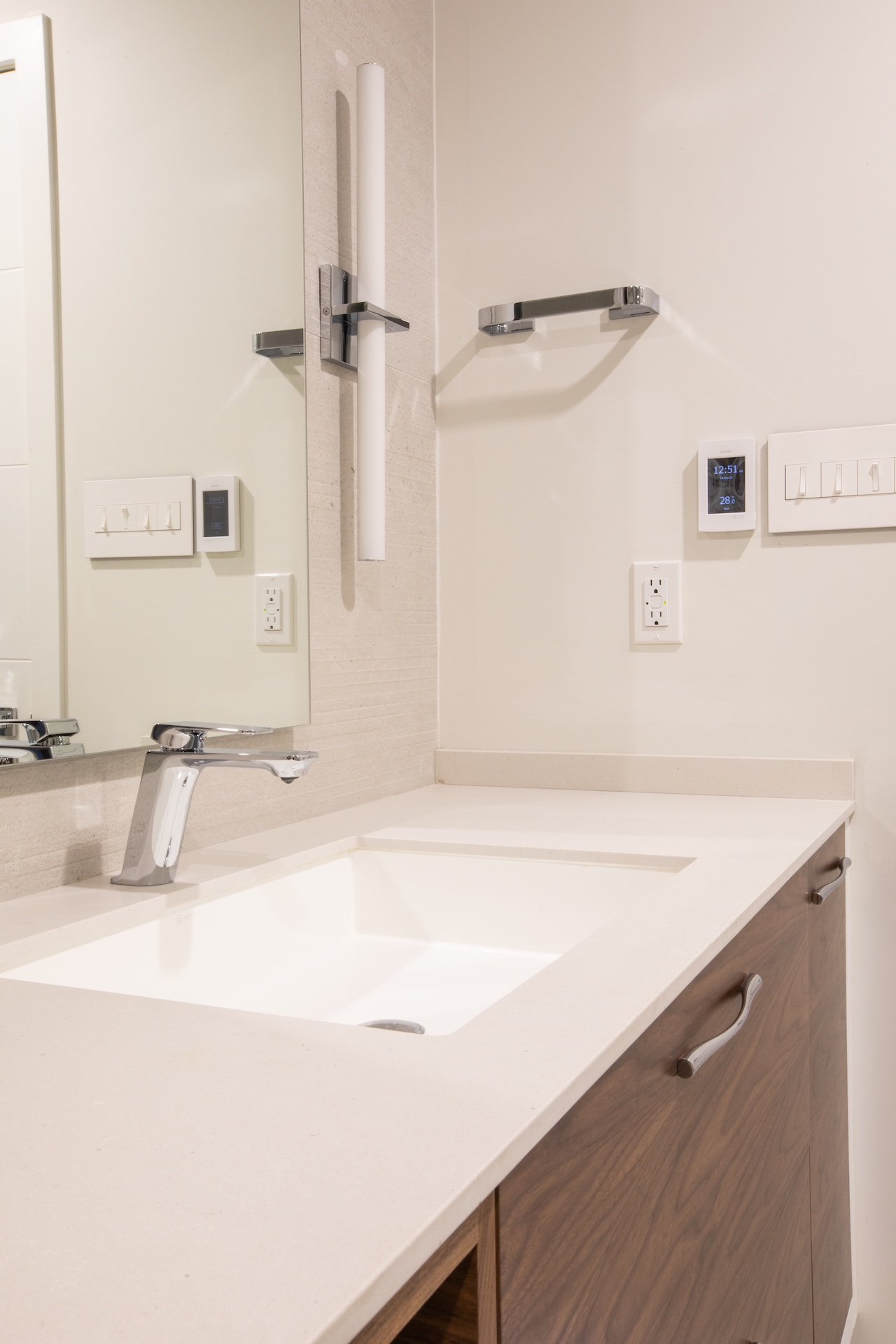 sink with white counter top