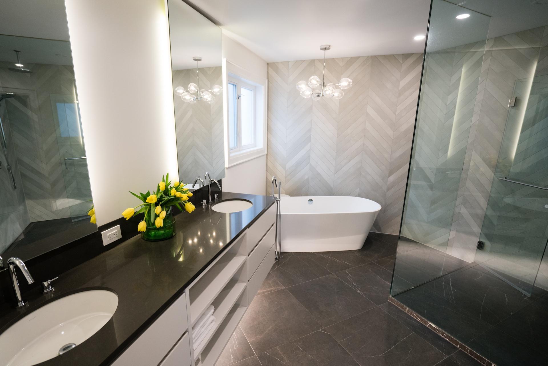 bathroom sink with tub