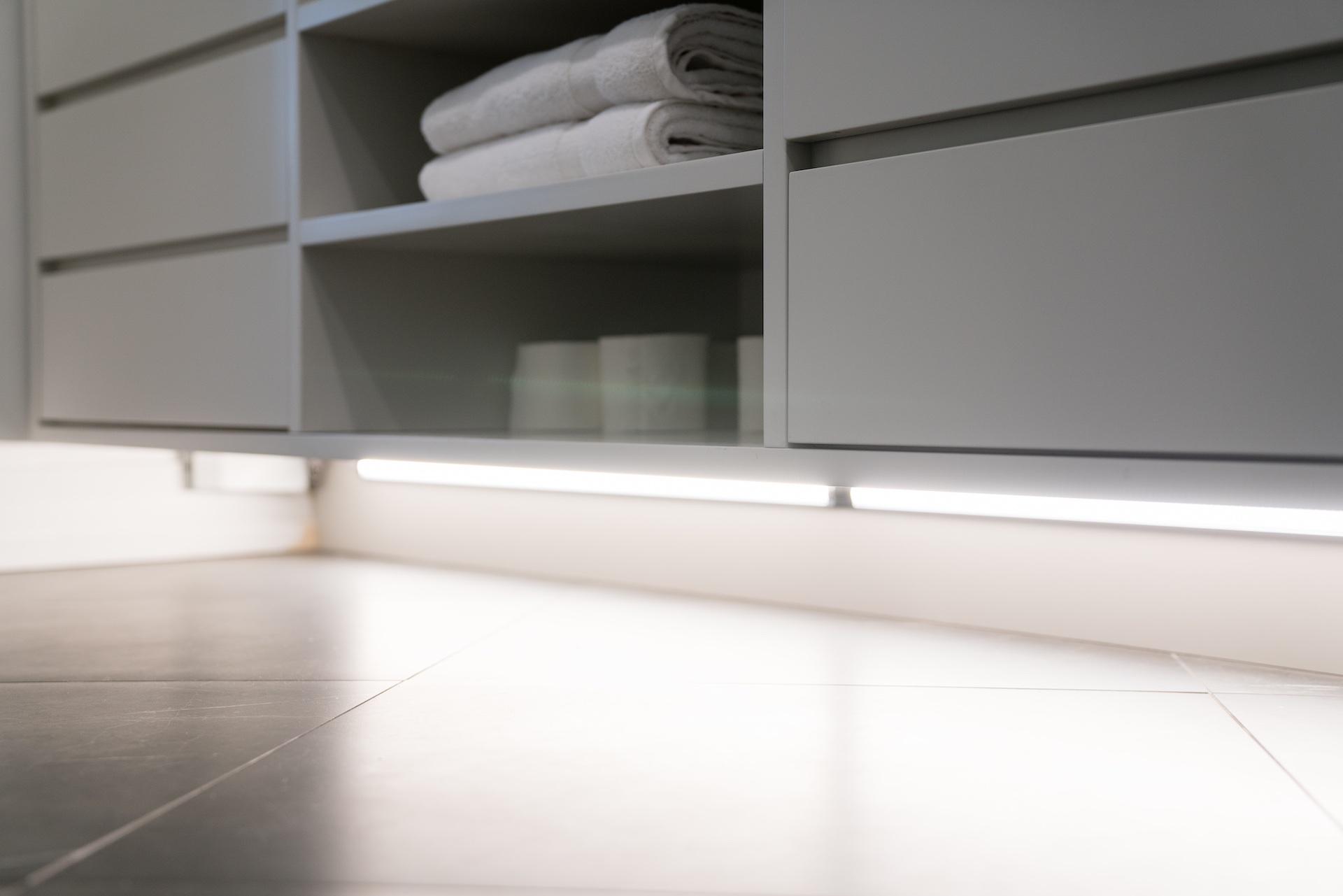 grey vanity drawers