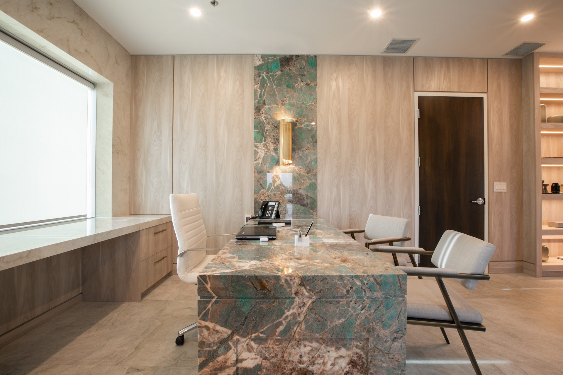 side of marble table
