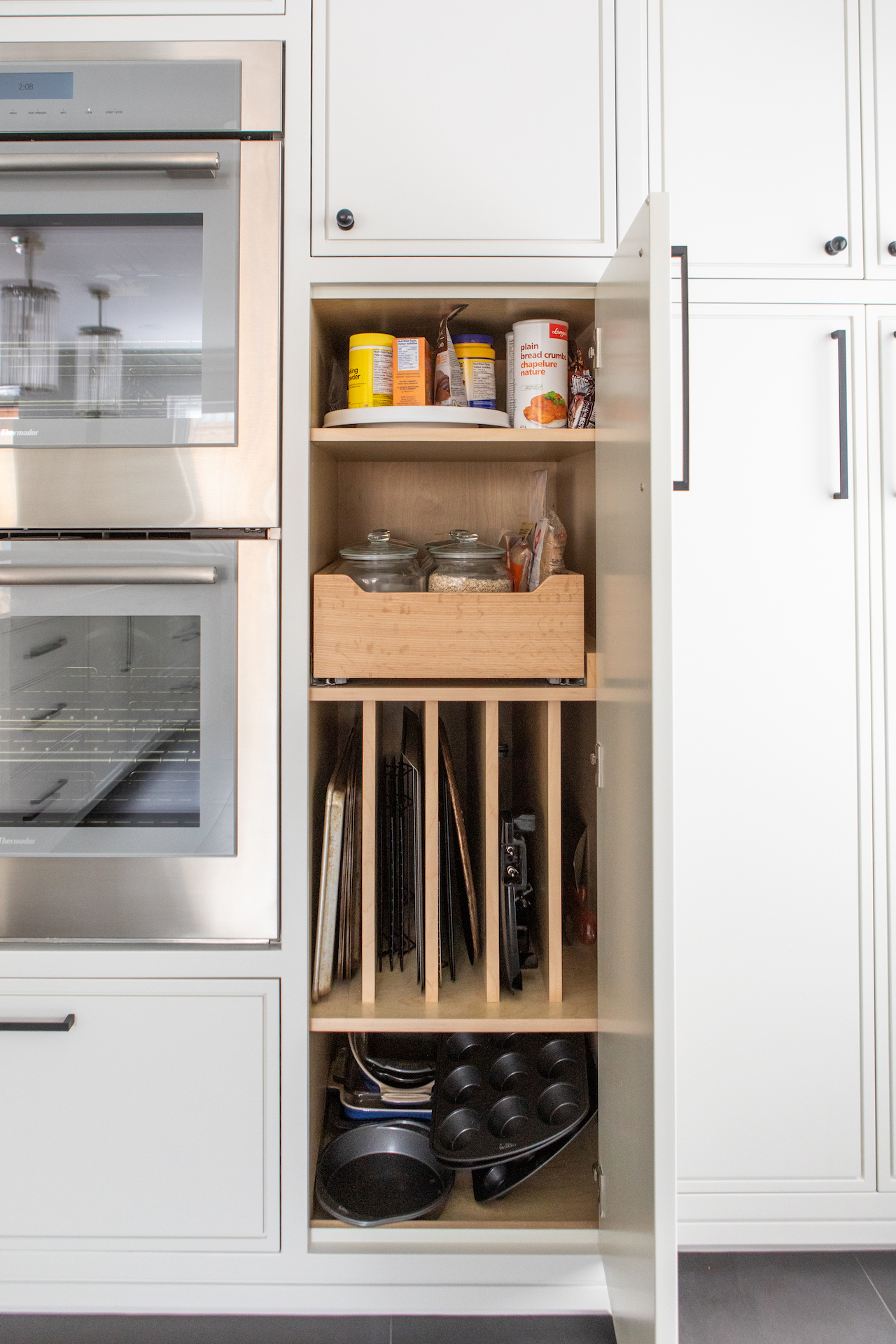 pantry cabinets open