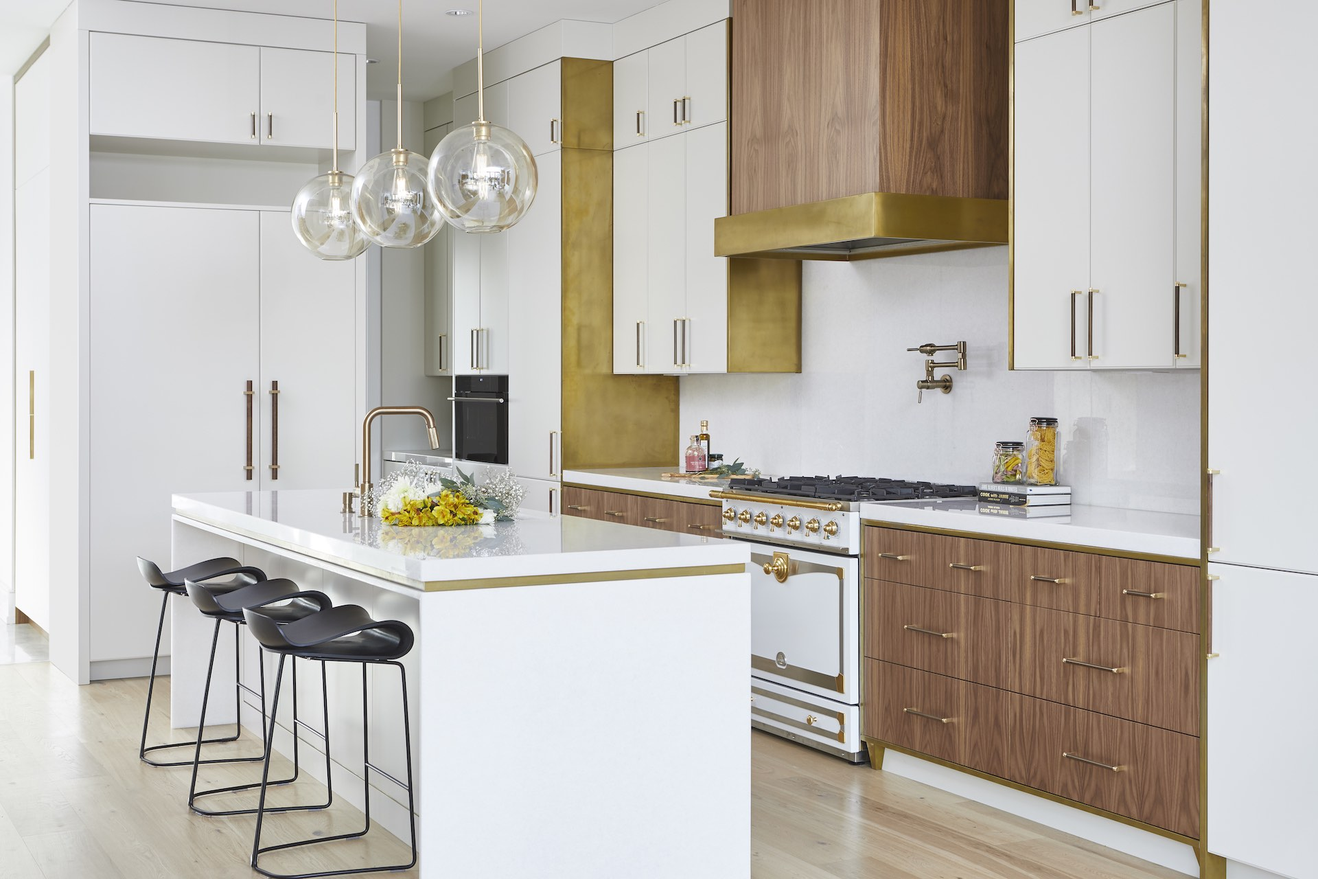 Natural wood and white kitchen