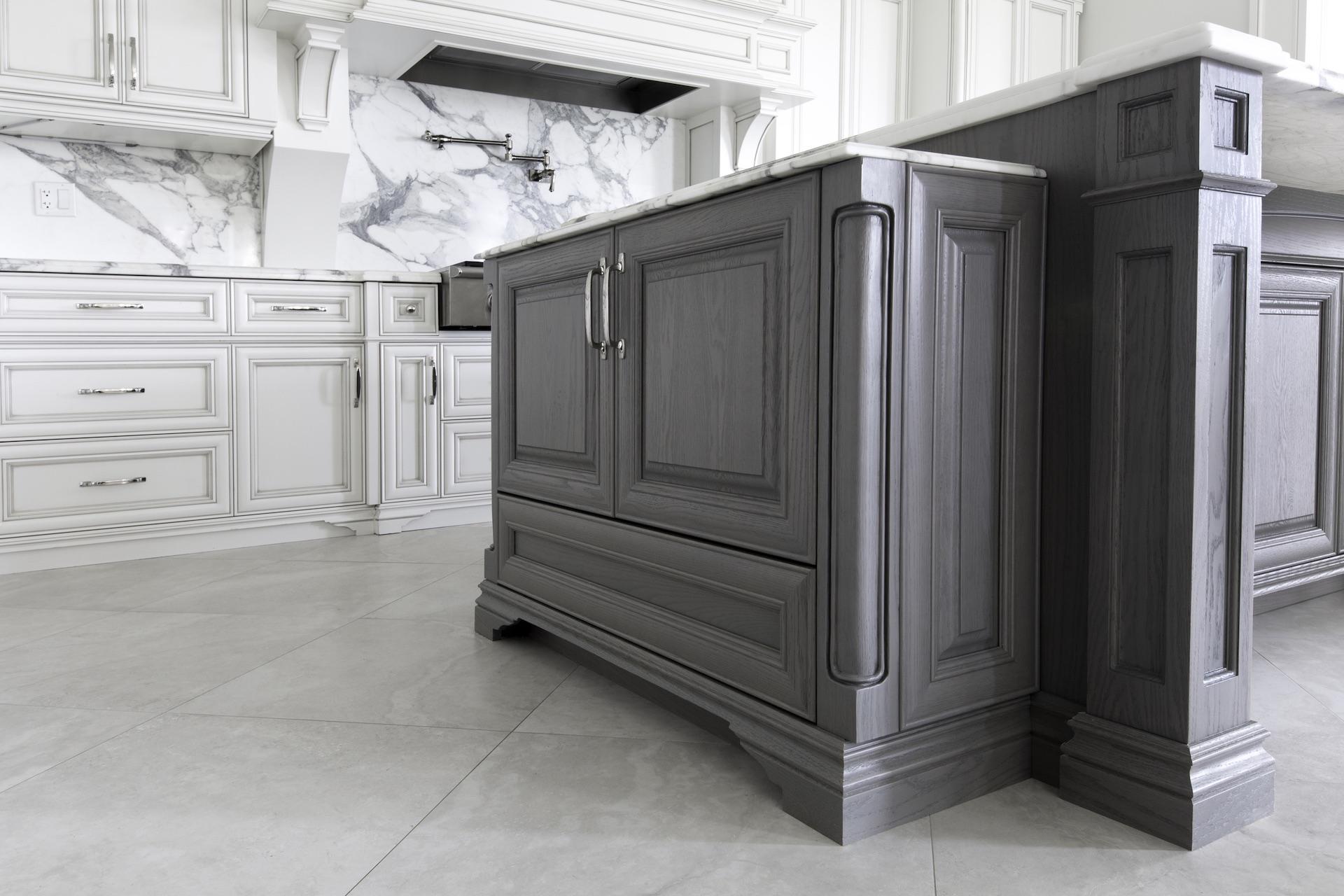 grey kitchen island