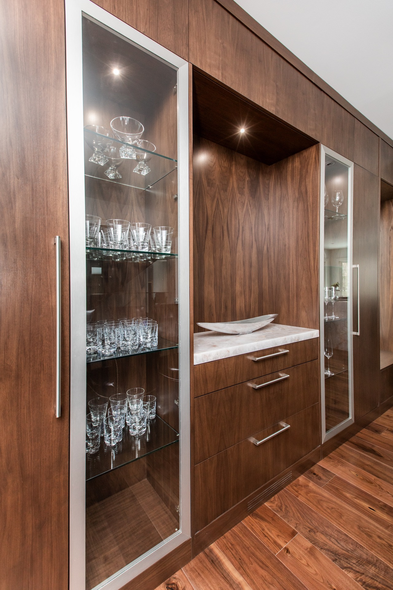 cabinets with glass