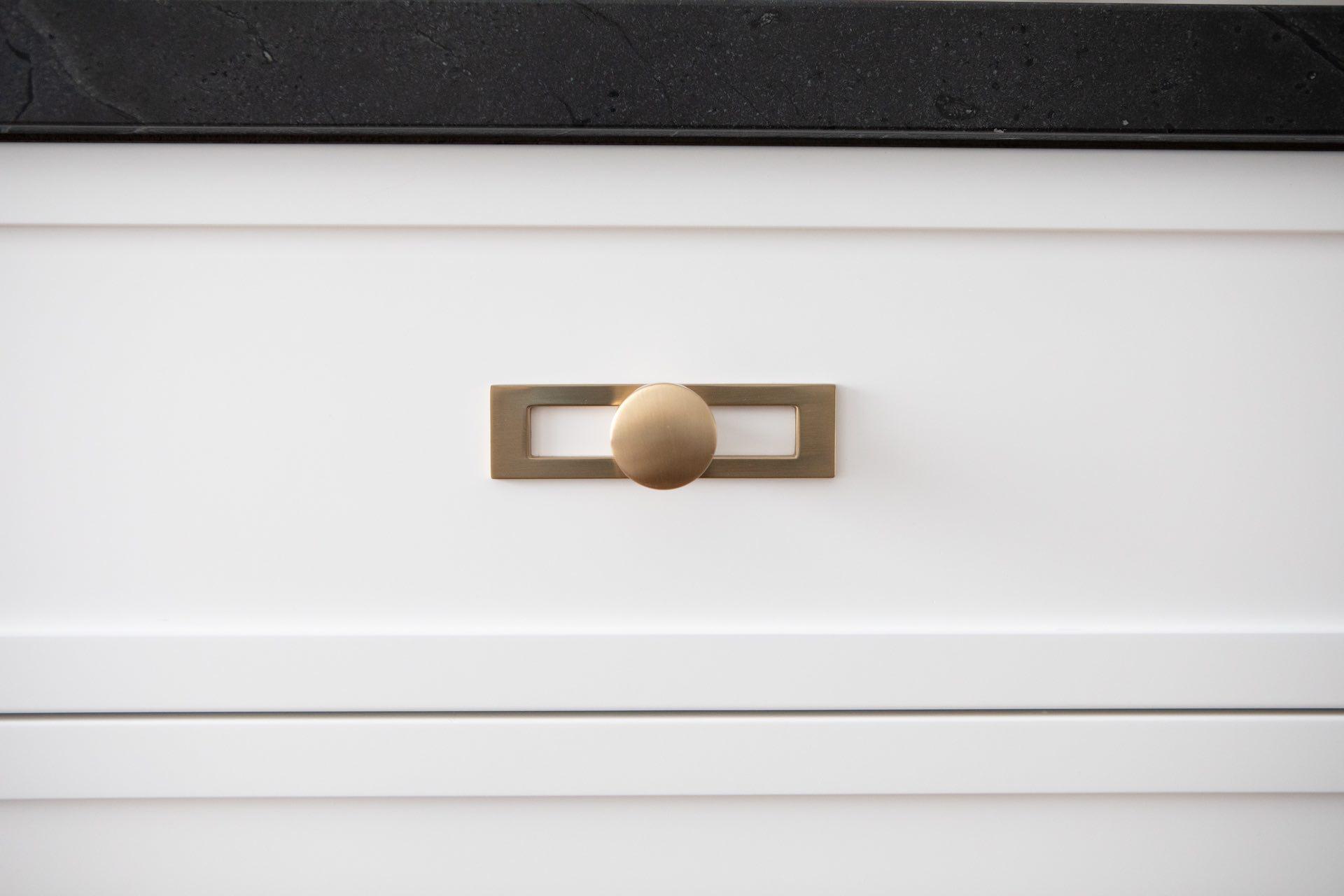 Gold drawer knob