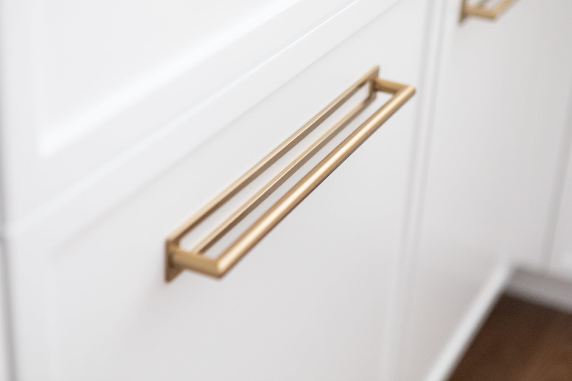 Gold cabinet handles