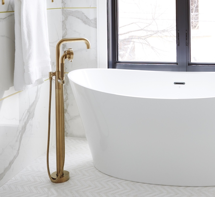 gold sub faucet