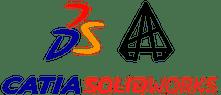 Logo CATIA et solidworks