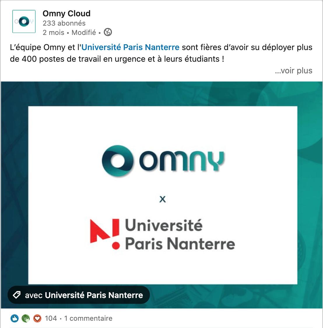 Post LinkedIn Omny Cloud