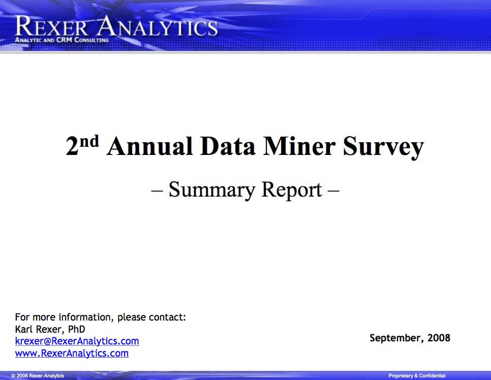 2008 data science survey