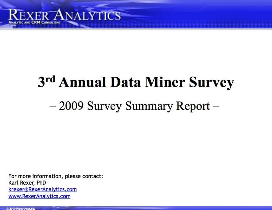2009 data science survey