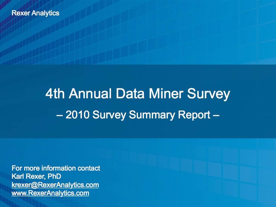 2010 data science survey