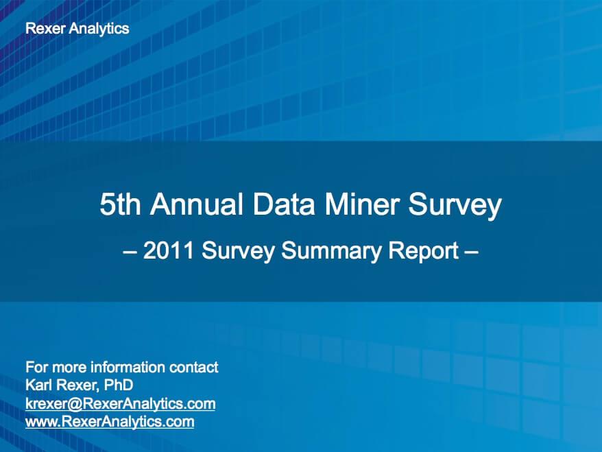 2011 data science survey