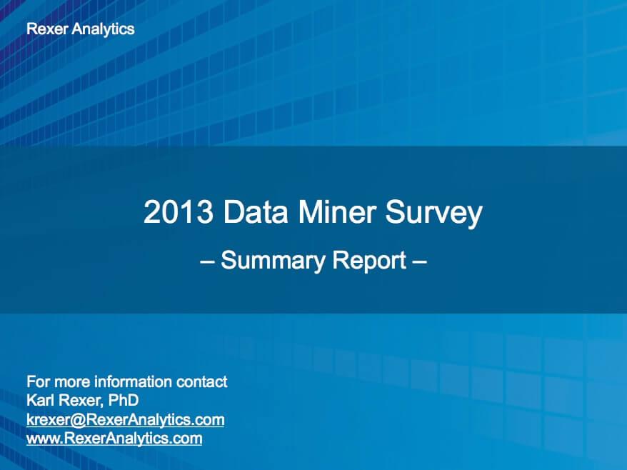 2013 data science survey