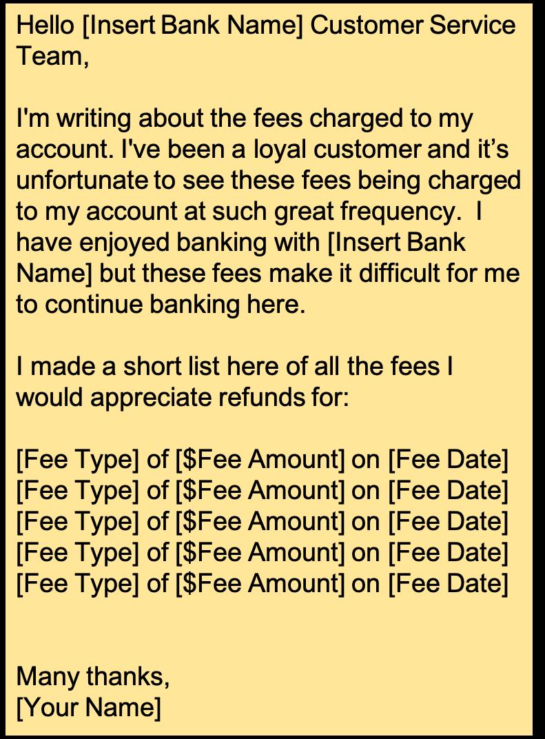 Overdraft Fee Refund Script