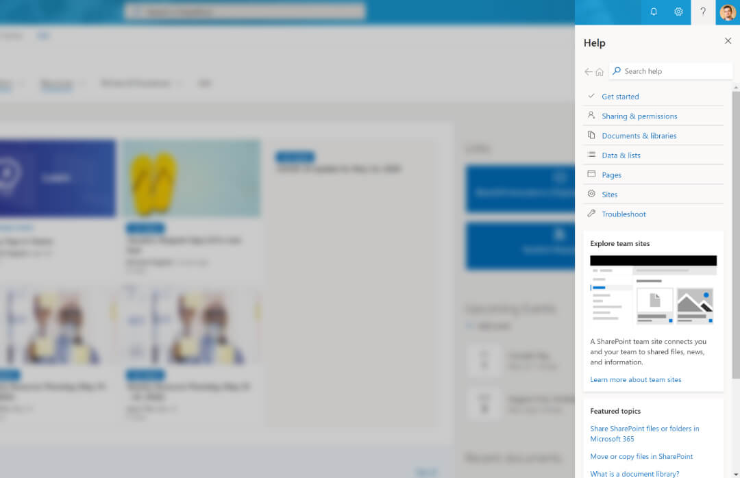 Screenshot of 'In-App Help Tab'.