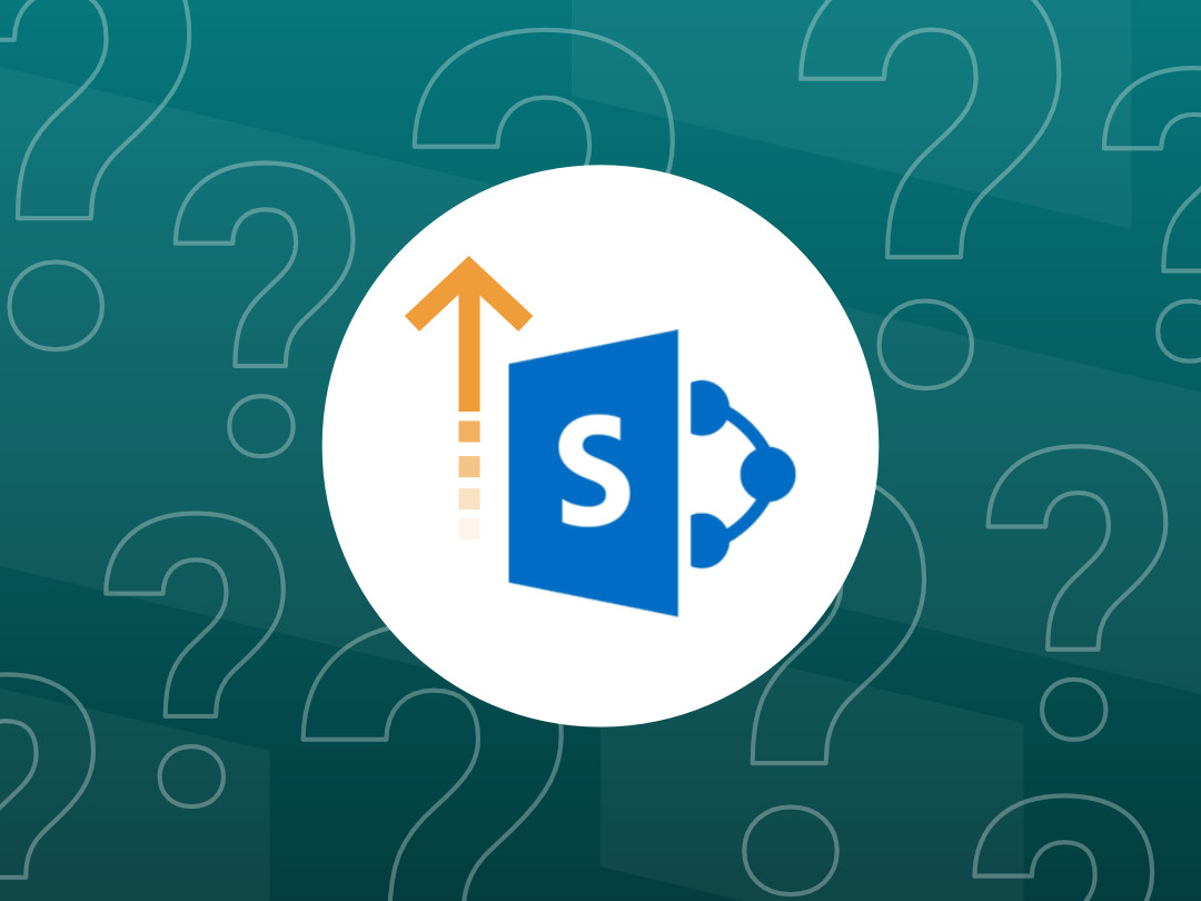 Image of the SharePoint Migration Tool surrounded by questions