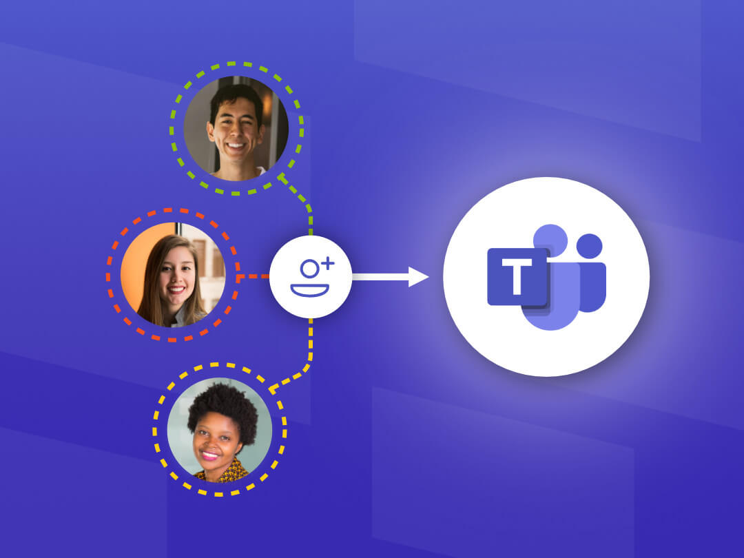 Image of external users being added as guests in Microsoft Teams