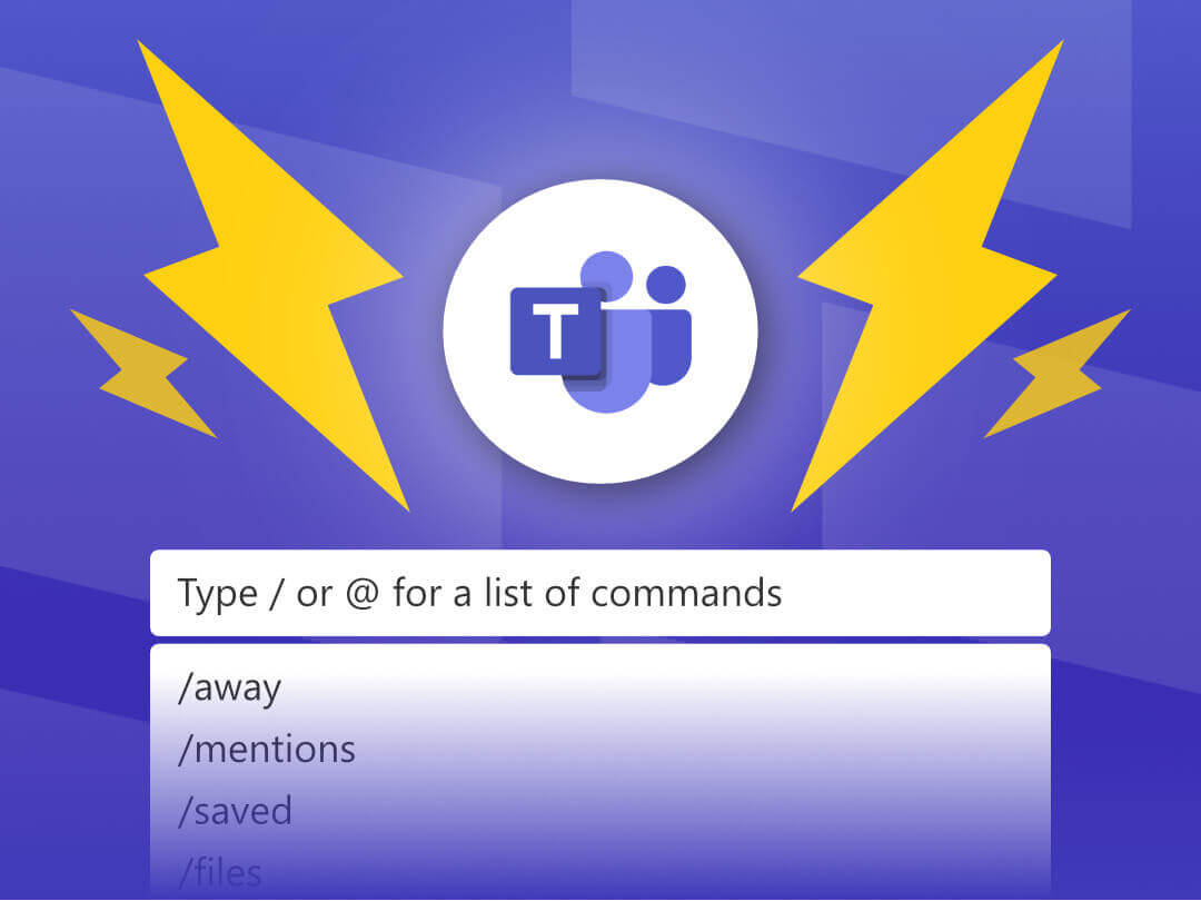 Image of Microsoft Teams logo with the command bar.