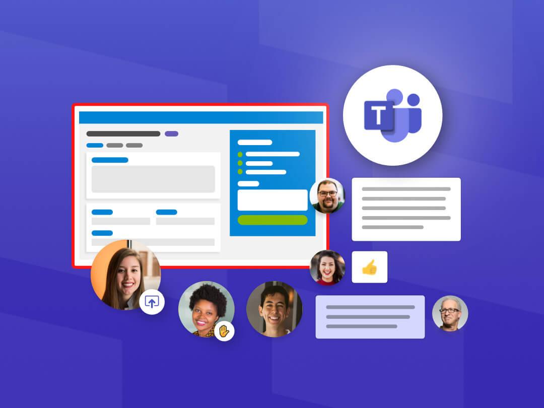 Image of team members in a Microsoft Teams meeting.