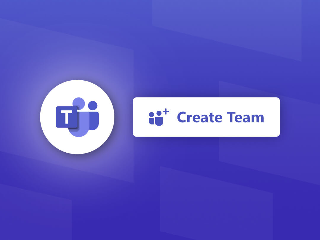 Image of how to create a new team in Microsoft Teams.