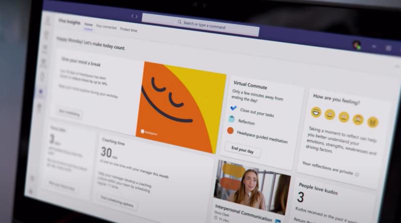 Image of Viva Insights in Microsoft Teams.