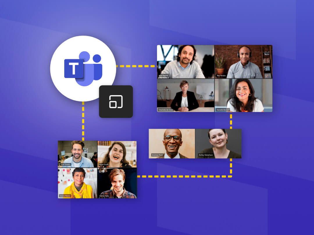 Image of the breakout rooms feature in Microsoft Teams